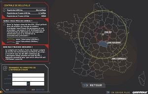 Carte zones nucleaires en France