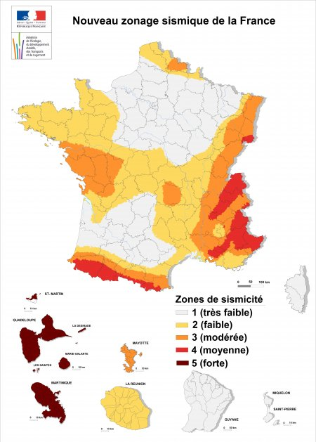 Zonage sismique France apres avril2011