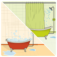 preferez les douches aux bains