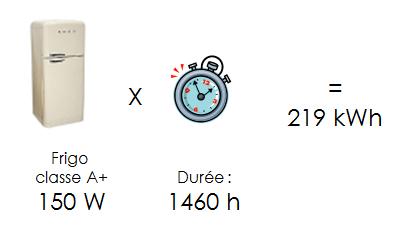 frigo 219 kWh