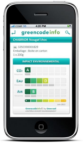 greencode su iPhone