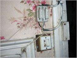 Installation electrique vetuste