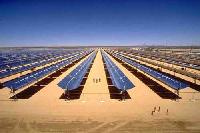 panneau solaire dans le desert