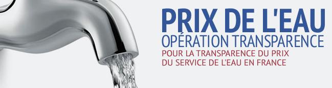 Transparence pour le prix de l'eau en France