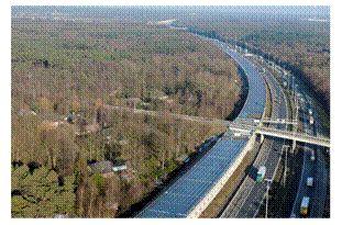 Tunnel photovoltaique en Allemagne