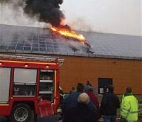 incendie sur panneaux photovoltaiques