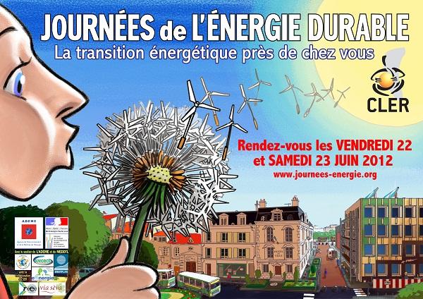 Affiche journees de l'energie durable 22 et 23 juin 2012