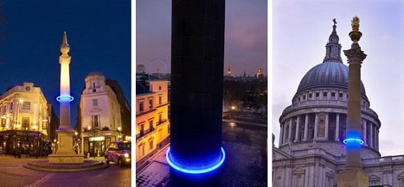 Londres : des anneaux bleus pour alerter sur le réchauffement climatique