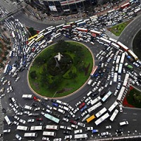 rond point et circulation routiere