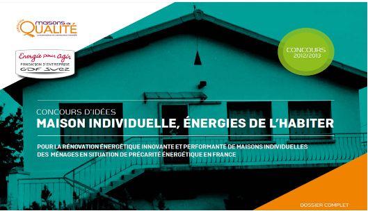 Concours GDF SUEZ maison individuelle