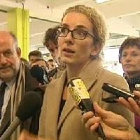 Delphine Batho à l'usine Landis&Gyr de Montluçon (image France 3)