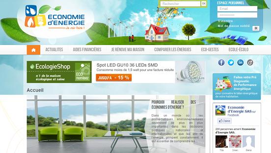 page d'accueil Economiedenergie.fr
