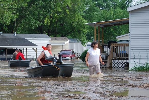 inondations en Indiana