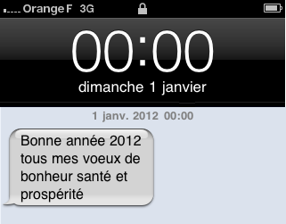 voeux sms iPhone