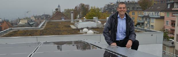 Hybridkollektor und professor  Hansjürg Leibundgut