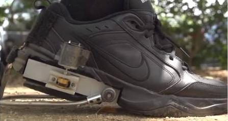 Chaussure produisant de l'électricité
