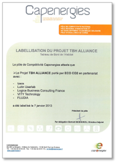 Labellisation du projat AllianceTBH par le pole Capenergies