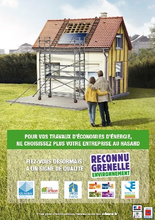 Affiche reconnu Grenelle de l'environnement _ éco-conditionnalité