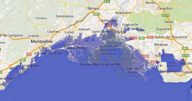 montée des eaux en Camargue