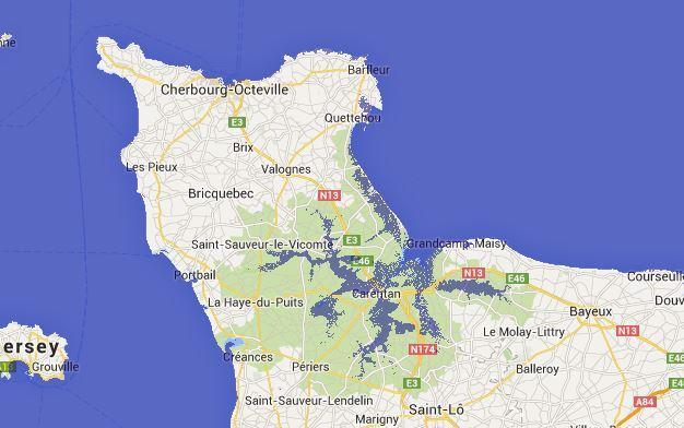 montée des eaux dans le Cotentin