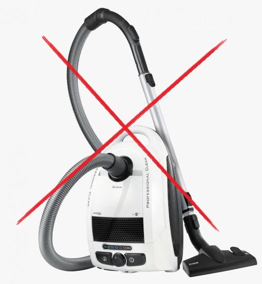 aspirateur interdit