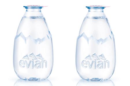 bouteille d'eau evian danone