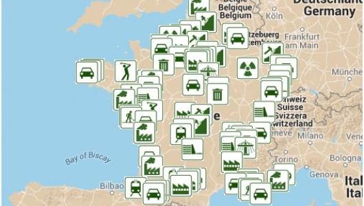 carte de france des projets nuisibles
