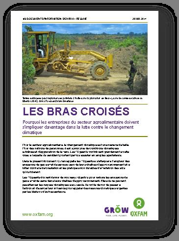 les bras croisés, rapport d'Oxfam