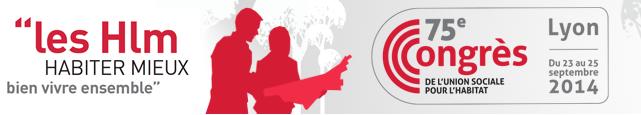 logo congres HLM de l'USH 2014 à Lyon