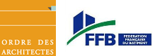 Logos de l'ordre des architectes et de la FFB