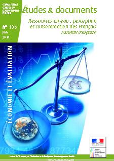 Etudes Ressource en eau, ministère e l'écologie