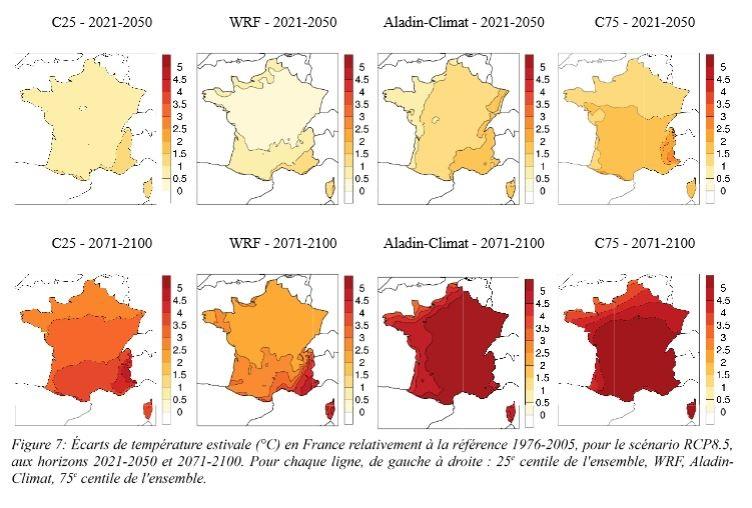 scenarios evolution du climat France - GIEC