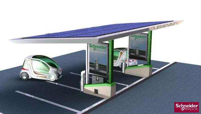 station d'électromobilité