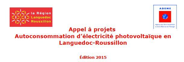 appel à projets languedoc roussillon PV