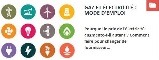 gaz élec, mode d'emploi