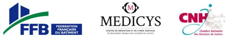 logos FFB, MEDICYS et CNH