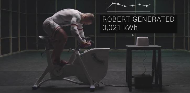 Robert Forstemann a produit une énergie de 0,021 kWh