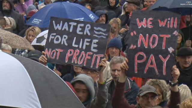 water for live not profit, we will not pay