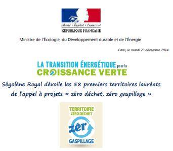 zéro déchet, zéro gaspillage, ministère de l'écologie France
