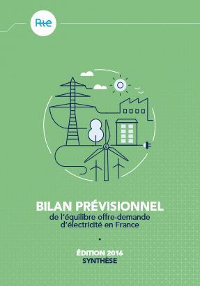 bilan prévisionnel de l'équilibre production consommation d'électricité - RTE - édition 2016