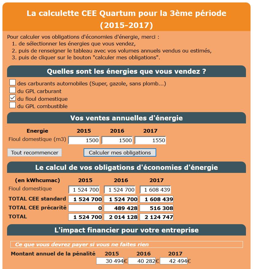 calculatrice des obligations CEE précarité énergétique