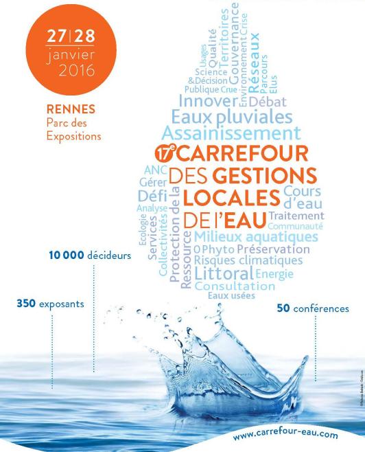 image pour Carrefour des gestions locales de l'eau : les 25 et 26 janvier à Rennes