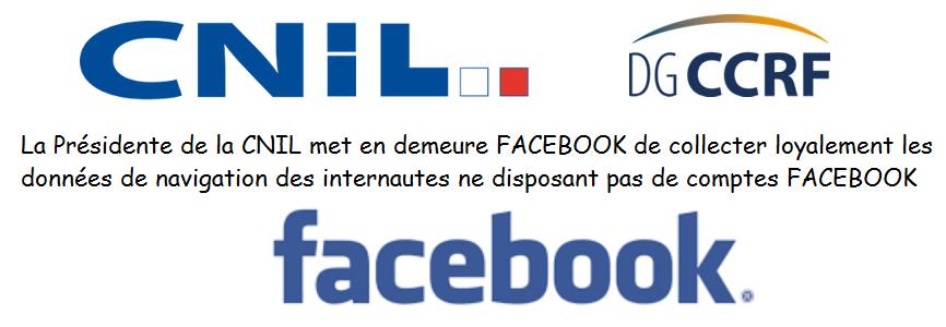 Facebook : mises en demeure de la CNIL et de la DGCCRF