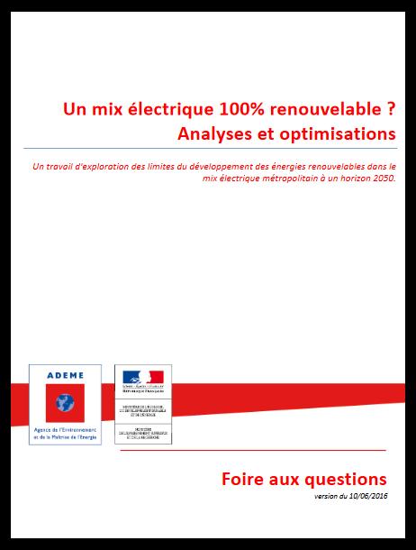 FAQ mix énergétique 100% renouvelable - Ademe