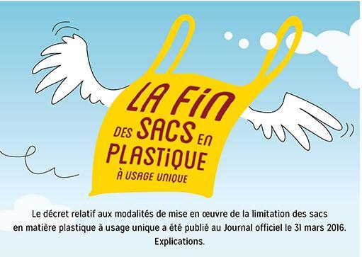 fin des sacs plastiques à usage unique