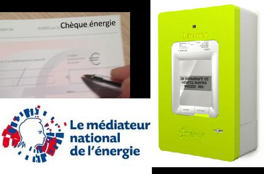 médiateur de l'énergie et linky, chèque énergie...