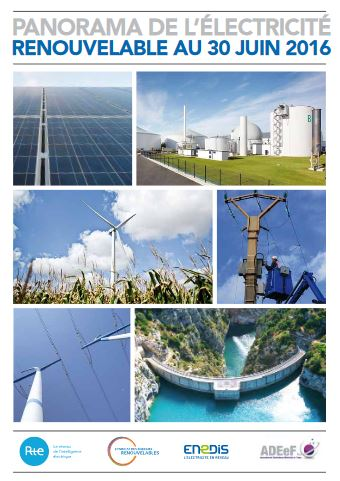Panorama de l'électricité renouvelable au 30 juin 2016, par ENEDIS