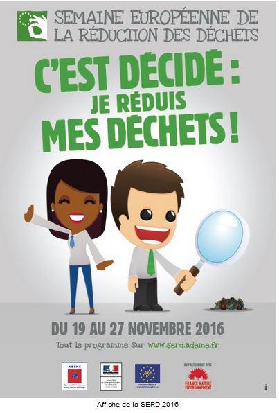 semaine européenne de la réduction des déchets - 19 au 27 novembre 2016