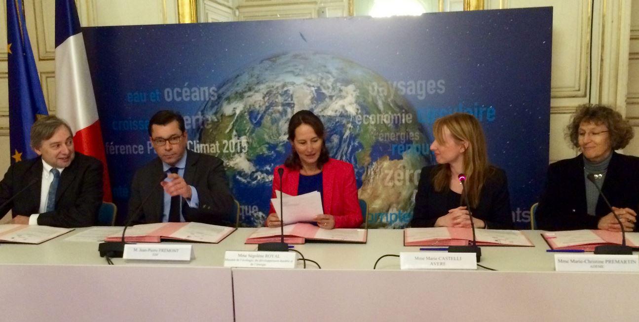 signature convention advenir au ministère de d'écologie