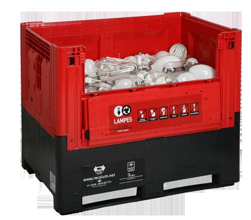 Recylum : conteneur pour la collecte de lampes